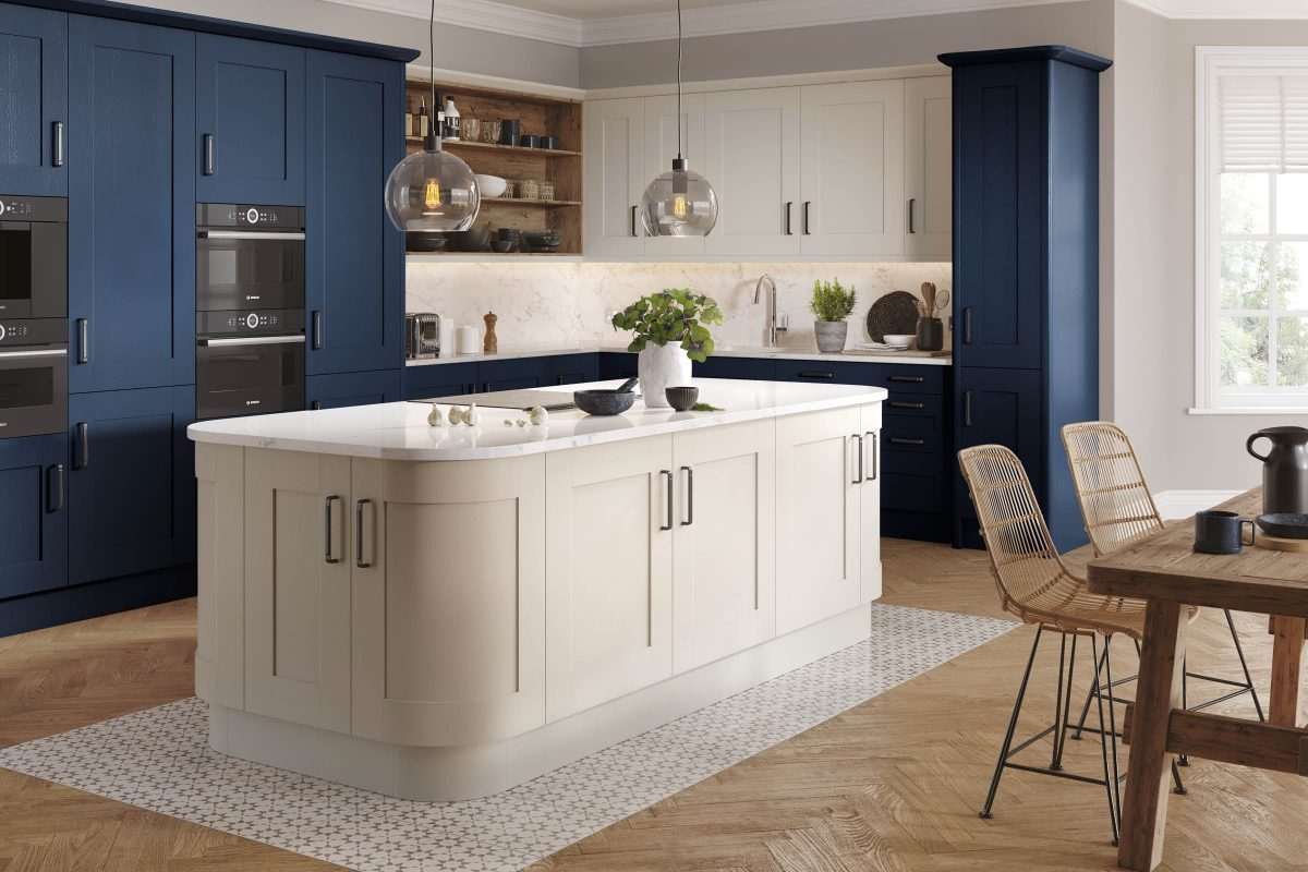 Wilton Oakgrain Azure Blue / Wilton Oakgrain Grey