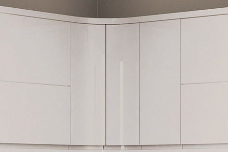 Internal Curved Doors - Wall (pair)