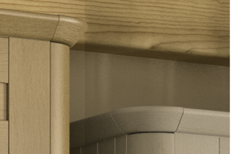 Curved Corner Feature Tangent Cornice