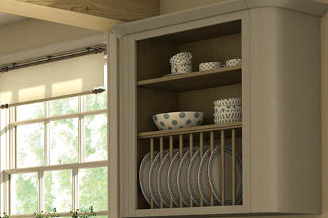 Display Cabinet Surround Curved Corner Feature