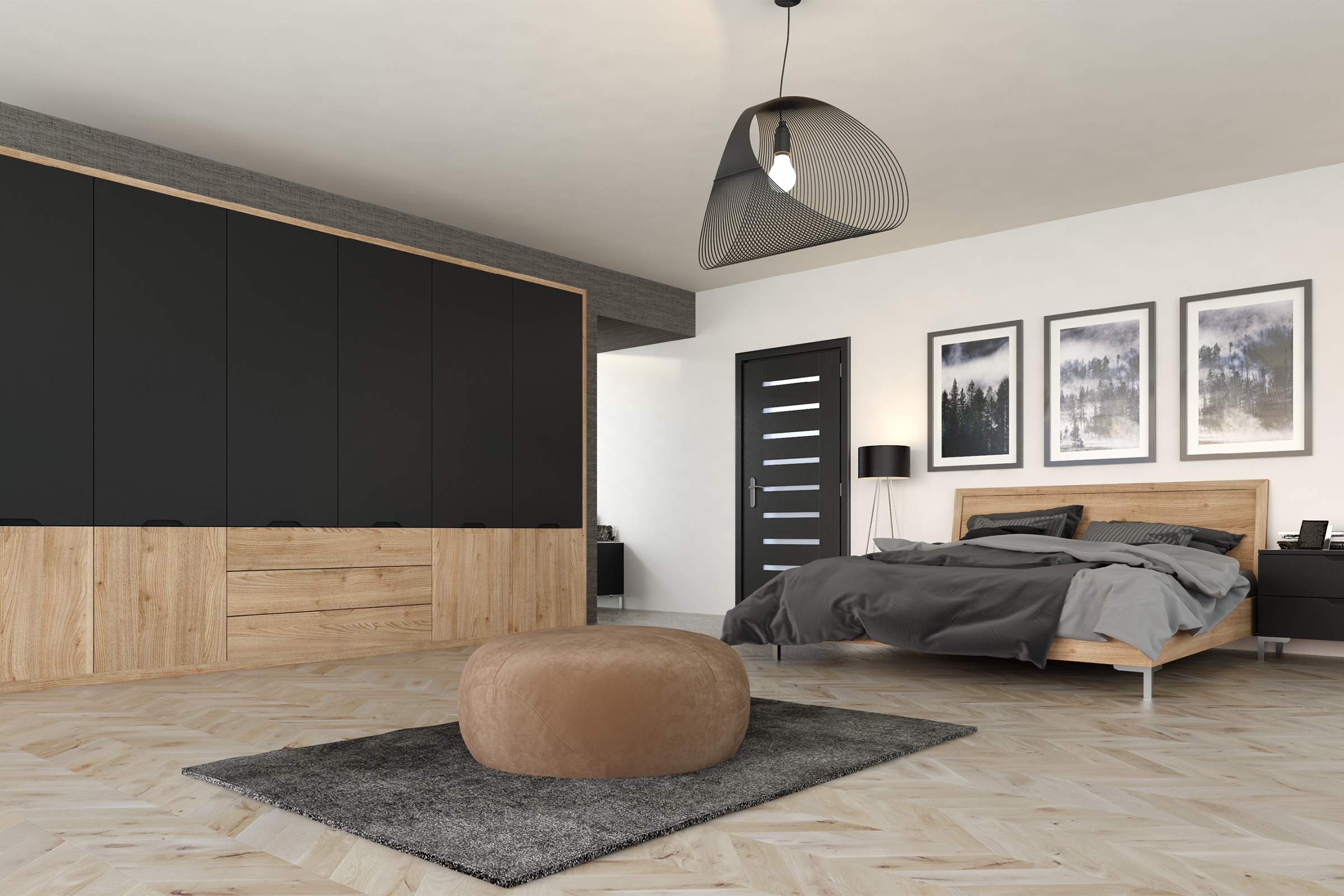 Bella Matt Graphite / Bella Tortona Natural Oak / Style: Integra