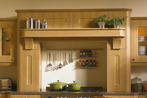 Mantle shown with broad shelf option **