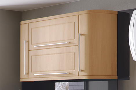Plain Curved Doors Wall Cabinet