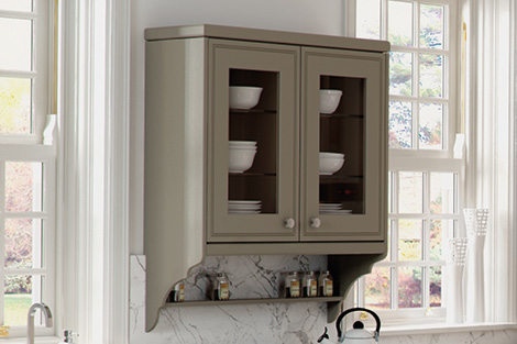Scroll End Panels with Shelf
