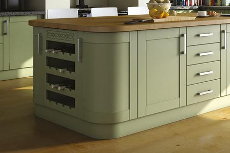 Shaker Style Curved Doors