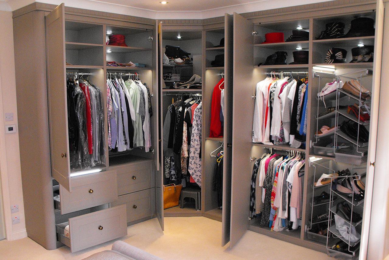 Built in Wardrobes using Bella Tullymore Door in Matt Stone Grey