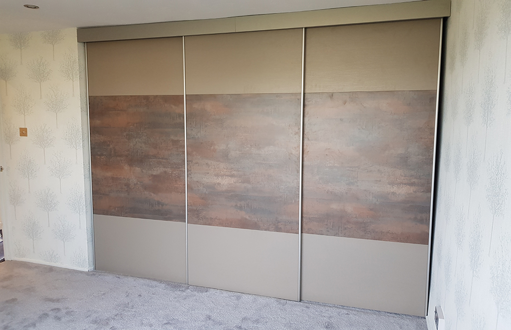 Glidor Urban Door in Grey Brown Metallo and Stone Grey